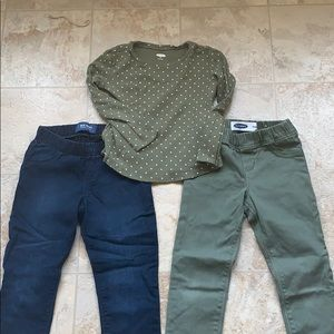 Old Navy girls jeggings and top 5T